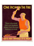 Iron in Fire Giclee Print by Willard Frederic Elmes