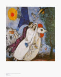 Bridal Couple with Eiffel Spride Print by Marc Chagall