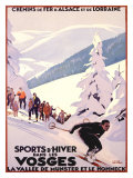 Sports d'Hiver dans les Vosges Giclee Print by Roger Broders