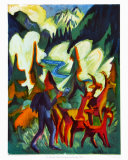 Herder and Goats in the Morning Collectable Print by Ernst Ludwig Kirchner