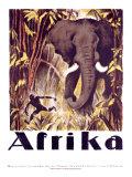 Afrique Reproduction procédé giclée par Otto Baumberger