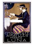 Chocolate Amatller, Luna Giclee Print by Rafael de Penagos