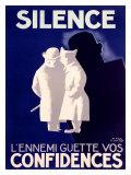 Silence Giclée-tryk af Paul Colin