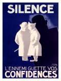 Silence Giclee Print by Paul Colin
