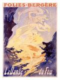 Folies-Bergere, La Danse du Feu Giclee Print by Jules Chéret