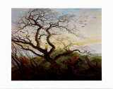 Tree with Crows Prints by Caspar David Friedrich