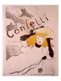 Confeti Lámina giclée por Henri de Toulouse-Lautrec