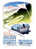 Corsa Bolzano to Mendola Giclee Print by Franz Lenhart