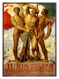 Turin, 1911 Giclee Print by Adolfo de Carolis