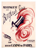 Mistinguett, Bonjour Paris Giclee Print by Charles Gesmar
