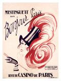Mistinguett, Bonjour Paris Giclee Print by Charles Gesmar