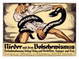 Oskar Kokoschka - Nieder Mit Dem Bolschewismus Digitálně vytištěná reprodukce