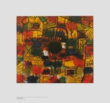 Composotion with Black Focus Print by Paul Klee