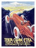 Terza Coppa Etna, Auto Road Rally Giclee Print by Franco Codognato