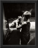 The Caretaker's Cat Poster par Willy Ronis