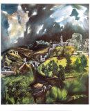 View of Toledo Posters by El Greco