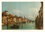 The River Arno with Ponte Santa Trinita, Florence Collectable Print by Bernardo Bellotto
