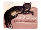Exposition des Artistes Animaliers Giclee Print by Th&#233;ophile Alexandre Steinlen
