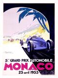 Monaco, 1933 Reproduction procédé giclée par Geo Ham