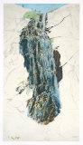 The Veiled Cascade at Bad Gastein, Salzburg Collectable Print by Rudolph von Alt