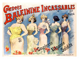 Corsets Baleinine Incassables Giclee Print by Alfred Choubrac