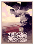 Mostra del Ciclo, Milano, 1907 Giclee Print by Metlicovitz 