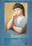 Portrait Einer Frau in Blauer Jacke Poster von Pablo Picasso