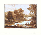 Flood Plain with a Cattle Watering Tank Art by Claude Lorrain