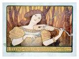 Lecons de Violin Giclee Print by Paul Berthon