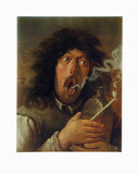 The Smoker Collectable Print by Adriaen Brouwer
