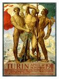Turin, 1911 Giclée-Druck von Adolfo de Carolis
