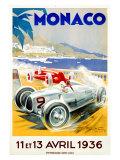 Grand Prix van Monaco, 1936 Gicléedruk van Geo Ham