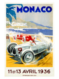 Monaco Grand Prix, 1936 Gicleetryck av Geo Ham