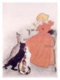 Publicité lait stérilisé, 1896 (Steinlein) Reproduction procédé giclée par Théophile Alexandre Steinlen