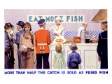 Eat More Fish Giclee Print by Charles Pears
