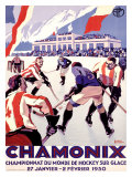Chamonix, Hockey Giclee Print by Roger Broders