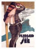 Flieger Zur See Giclee Print by Hans Rudi Erdt