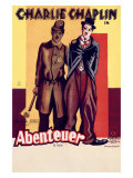 Charlie Chaplin, Abenteuer Giclee Print