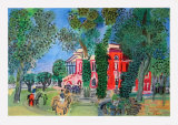 Paddock at Deauville Collectable Print by Raoul Dufy