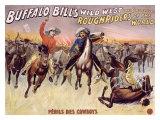 Perils des Cowboys Giclee Print