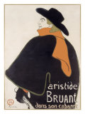 Artistide Bruant Dans Giclee Print by Henri de Toulouse-Lautrec