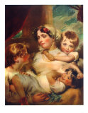 Mrs. Weddel and Children Collectable Print by George Henry Harlow