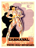 Carnival, 1936 Giclee Print by Tubau 