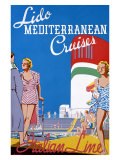 Lido Med Cruises Giclee Print