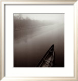 Tranquil Boat Print by Michael Kenna