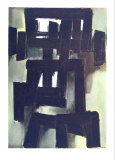 Peinture, 1955 Reproductions pour les collectionneurs par Pierre Soulages
