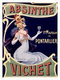 Absinthe Vichet Reproduction procédé giclée par  Nover