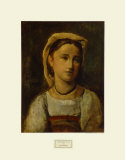 Young Girl Collectable Print by Jean-Baptiste-Camille Corot