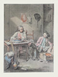 Two Young Painters Collectable Print by Louis Aubert