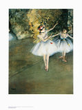 Two Dancers on the Stage Art by Edgar Degas